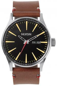 Nixon Sentry Leather Black Brown A105 019 watch