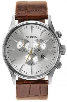 Nixon Sentry Chrono Leather Saddle Gator A405 1888 watch