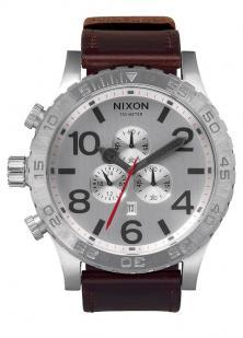 Nixon 51-30 Chrono Leather Silver A124 1113 watch