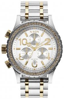 Nixon 38-20 Chrono Silver Gold A404 1921 watch