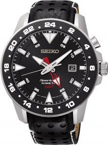 Seiko SUN015P2 Sportura Kinetic GMT watch
