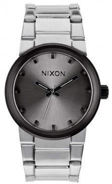 Nixon Cannon Silver Gunmetal A160 1762 watch