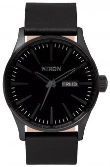 Nixon Sentry Leather All Black A105 001 watch