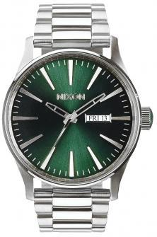Nixon Sentry SS Green Sunray A356 1696 watch