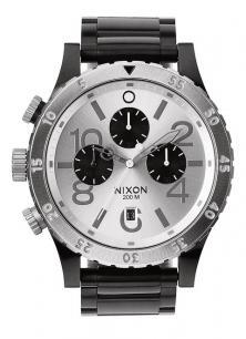 Nixon 48-20 Chrono Black/Silver A486 180 watch