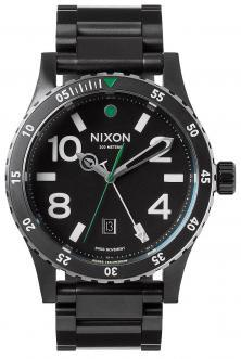 Nixon Diplomat SS Black Silver Green A277 1421 watch