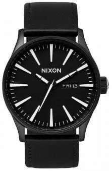 Nixon Sentry Leather Black White A105 005 watch