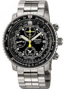 Seiko SNA411 SNA411P1 Flightmaster Pilot watch