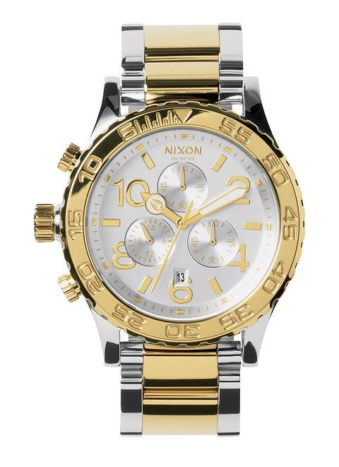 Nixon 42-20 Chrono Silver/Champagne/Gold A037 1431 watch